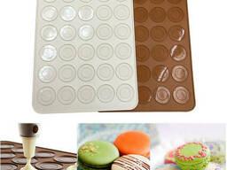 Форма силиконовая для выпечки «Macarons» коврик 25 х 28 см (30 шт х 3, 5 см)