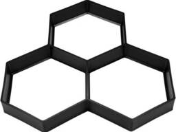 Форми з поліпропілену для виготовлення бруківки Vorel 360 х 360 x 40 мм