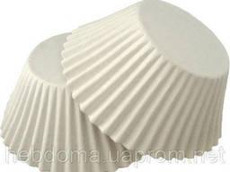 Формочки бумажные для кексов белые в ассортименте