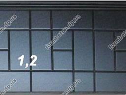 Формы опорных противоусадочных плит под памятники №1-2