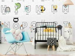 Фото обои в детскую комнату Животные Алфавит Animal ABC 150 см х 150 см
