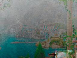 Фотообои с текстурой фрески