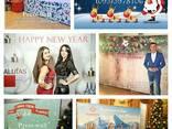 Фотозона на новый год, новогодняя фотозона, банер, баннер, новогодний корпоратив - фото 7