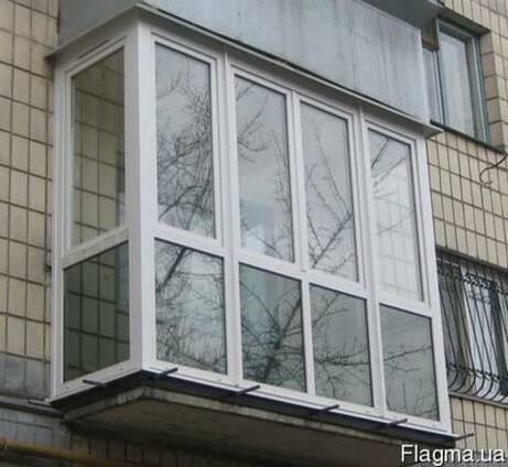 Французкие балконы, рамы, окна, двери ПВХ бел.и цвет.профиля