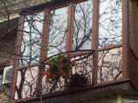 Французкие балконы, рамы, окна, двери ПВХ бел.и цвет.профиля - фото 2