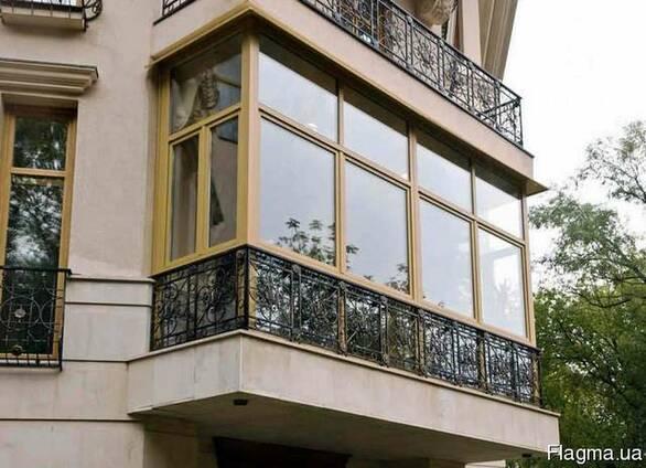 Французское, панорамное остекление балкона цена, рассрочка