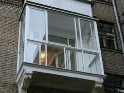 Французское, панорамное остекление балкона цена, рассрочка - фото 2
