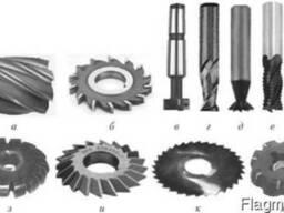 Фрезы шпоночные, концевые, с цилиндрическим и коническим хво
