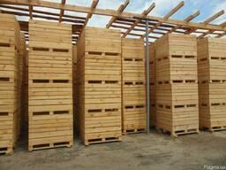 Контейнери дерев'яні, ящики для овочів і фруктів