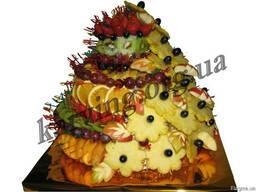 Фруктовый букет, Букет из фруктов и овощей, Съедобные букеты - фото 2