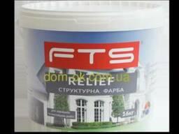 FTS/ФТС Рельеф структурная акриловая краска 16 кг Ведро. ..