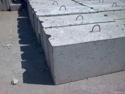 Фундаментный блок сплошной 1180х400х580мм ФБС 12. 4-6т