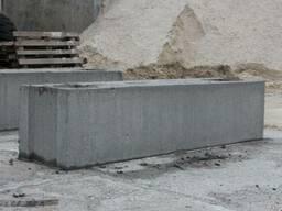 Фундаментный блок сплошной 2380х400х580мм ФБС 24. 4-6т