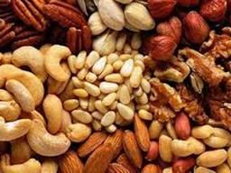 Орехи: бразильский, макадамия, фундук, пекан миндаль, кешью, фисташки