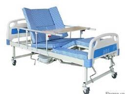 Функциональная медицинская механическая кровать с Туалетом.
