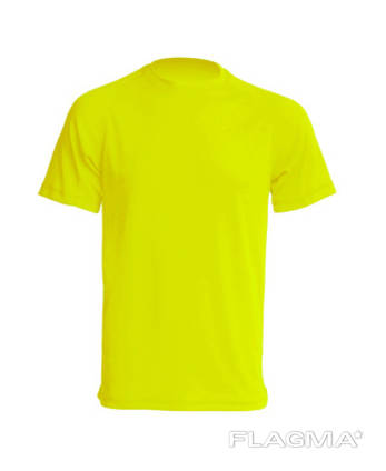 Футболка мужская спортивная ярко жёлтая jhk sportman