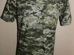 Футболки армейские камуфляж светлый пиксель ВСУ с карманом