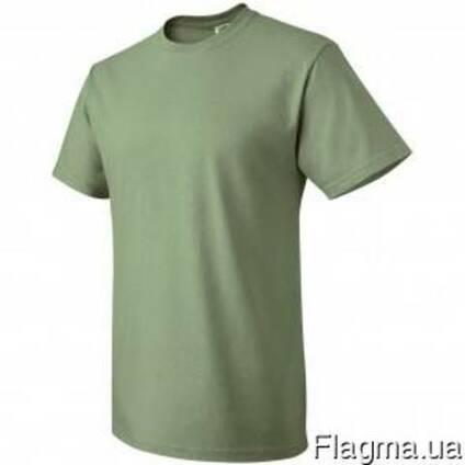Футболки хб олива, трикотажная футболка для охраны