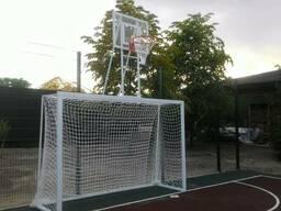 Футбольные ворота с баскетбольным щитом 1800х1050мм с оргсте