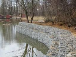 Габион матрац укрепления склона берега подпорная стена забор