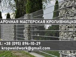 Габионы пергон коробчатые забор, подпорная стенка и др.