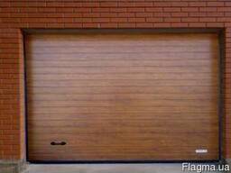 Гаражные секционные ворота Алютех