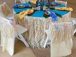 Гавайские юбки, головные уборы и браслеты.