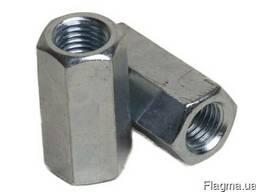 Гайка DIN 6334 удлиненная оц. , нержавеющая А2 и А4