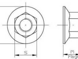 Гайка шестигранная с фланцем класс прочности 10, 9 гц