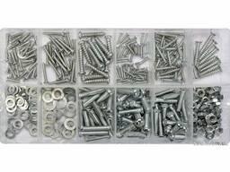 Гайки, шурупи, гвинти, шайби різних розмірів YATO в пластиковій коробці; наб. 347 шт.