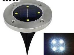 Газонный светильник 4 LED на солнечной батарее белый цвет