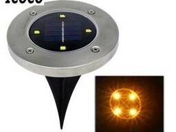 Газонный светильник 4 LED на солнечной батарее теплый белый