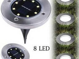 Газонный светильник на солнечной батарее 8LED