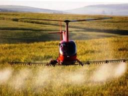 Гербицидная защита пшеницы ячменя вертолетом дельтапланом