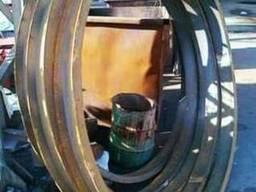 Гибка профильной трубы (вальцовка)
