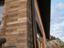 Гибкий камень. цокольный сайдинг. панели фасадные.
