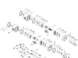 Гидравлический насос для погрузчиков Hyundai 100D-7; 120D-7