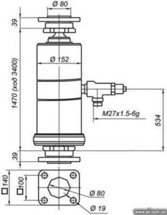 Гидроцилиндр КАМАЗ 65115