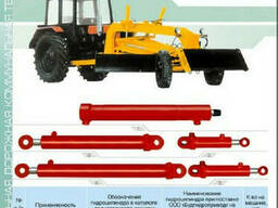 Гидроцилиндр рулевой 16ГЦ. 80/52. ПП. 000-160 автогрейдера. ..