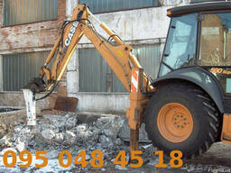 Гидромолот, гидробур - аренда, услуги Case 580SR