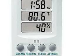 Гигро-термометр с часами Настольный Extech 445702