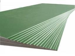 Гипсокартон влагостойкий (1, 2 х 2, 5 м) 12, 5 мм KNAUF