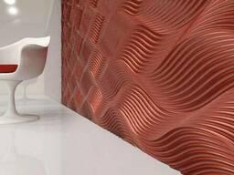 Гипсовая плитка. гипсовые 3D/3Д панели. Монтаж 3д панелей.