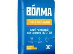 """Гипсовый клей для ГКЛ и ГВЛ """"Волма Монтаж"""" 30 кг."""