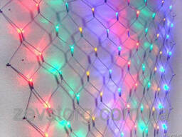 Гирляндная LED сетка — 120 лампочек, Белый