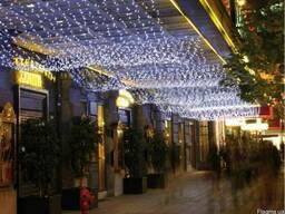 Гирлянда нить светодиодная, новогоднее оформление фасадов