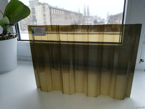 Гофрированный поликарбонат 0.8 мм, бронзовый, Suntuf, купить
