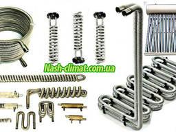 Гофрированные трубы из нержавеющей стали, разные диаметры.