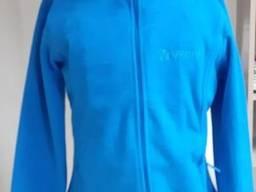 Голубая флисовая кофта женская корпоративная спецодежда кофта флис