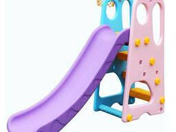 Горка детская пластиковая Bambi YG2016-16, разноцветная